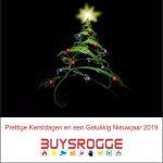 Buysrogge Fijne Feesrdagen en Gelukkig Nieuwjaar