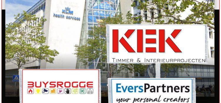 KEK bv gunt Buysrogge opdracht bij herinrichting kantoorgebouw KLM Health Services.